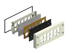 Remke's cable entry plates - BRM12 expanded view.