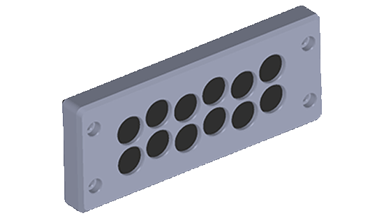 BRM12 is a 12 opening Cable entry plate that makes cable pass through simple and quick for non-connectorized cables.