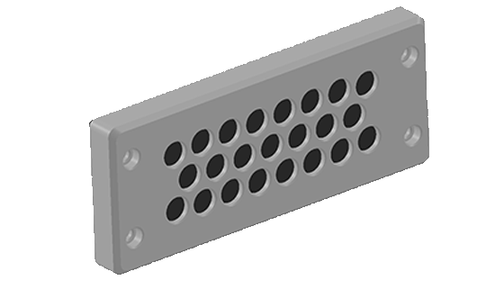 BRM23 is a 23 opening Cable entry plate that makes cable pass through simple and quick for non-connectorized cables.
