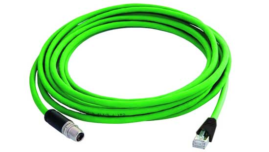 The Remke M12x1 to RJ45 ethernet connecting cable is IP67 rated and comes in variable lengths.