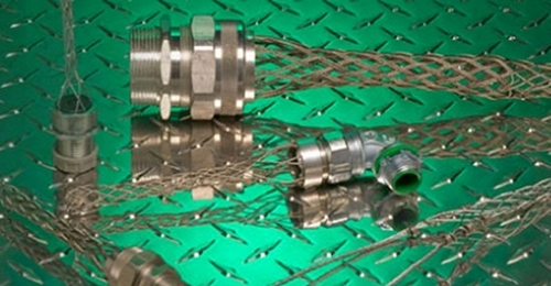 Wire Mesh Grips for Cable Connectors