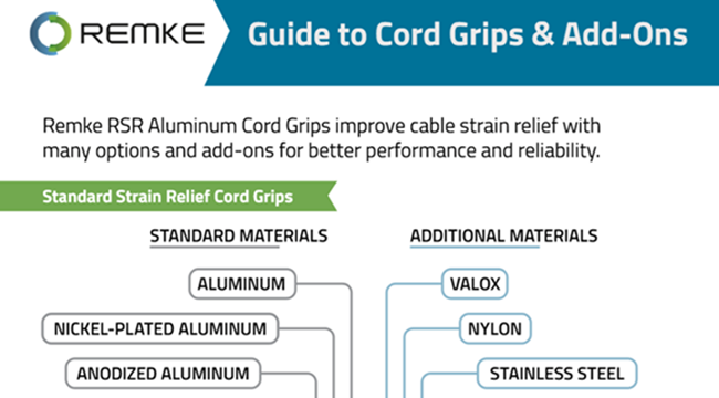 Infographic Guide to Remke RSR Cord Grips and Options - Remke.com