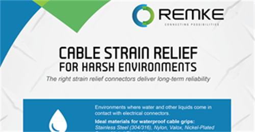 Cable Strain Relief for Harsh Environments Infographic