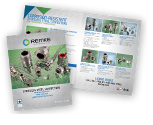 Stainless steel electrical connectors brochure of product from Remke